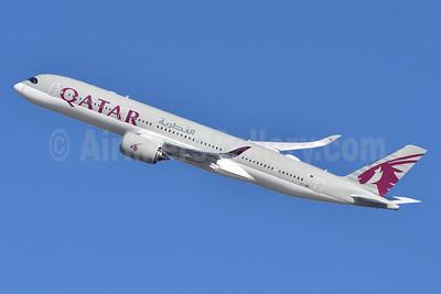 Qatar Airways Airbus A350-941 A7-AME (msn 163) JFK (Fred Freketic). Image: 944348.