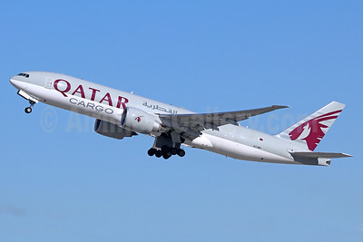 Qatar Airways Cargo Boeing 777-FDZ A7-BFI (msn 62083) LAX (Michael B. Ing). Image: 940218.