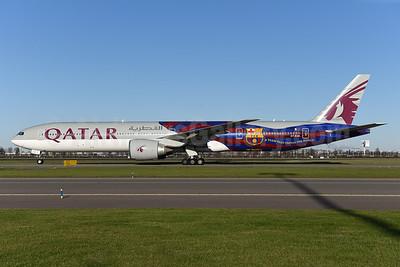 Qatar's 2014 FCB (Barcelona) logo jet
