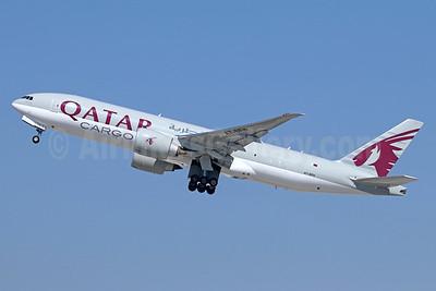 Qatar Airways Cargo Boeing 777-FDZ A7-BFH (msn 42298) LAX (Michael B. Ing). Image: 940217.