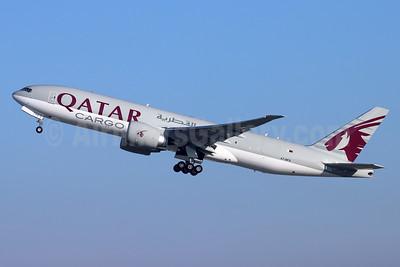 Qatar Airways Cargo Boeing 777F A7-BFS (msn 66337) LAX (Michael B. Ing). Image: 949182.