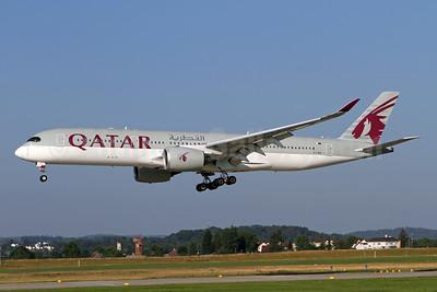 Qatar Airways Airbus A350-941 A7-ALF (msn 011) ZRH (Andi Hiltl). Image: 948811.