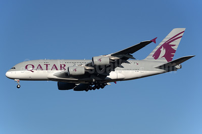 Qatar Airways Airbus A380-861 A7-APD (msn 160) LHR (Rolf Wallner). Image: 932868.
