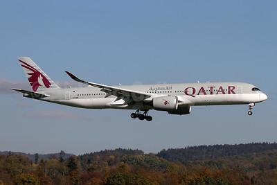Qatar Airways Airbus A350-941 A7-AMF (msn 172) ZRH (Andi Hiltl). Image: 944293.