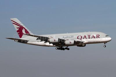 Qatar Airways Airbus A380-861 A7-API (msn 235) LHR (Andi Hiltl). Image: 947737.