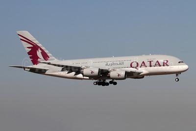 Qatar Airways Airbus A380-861 A7-APJ (msn 254) LHR (Andi Hiltl). Image: 947738.