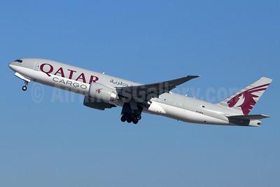 Qatar Airways Cargo Boeing 777-FDZ A7-BFG (msn 42299) LAX (Michael B. Ing). Image: 948414.