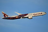 Qatar Airways Boeing 777-3DZ ER A7-BAE (msn 36104) (FC Barcelona - A Team that United the World) LHR (SPA). Image: 935871.