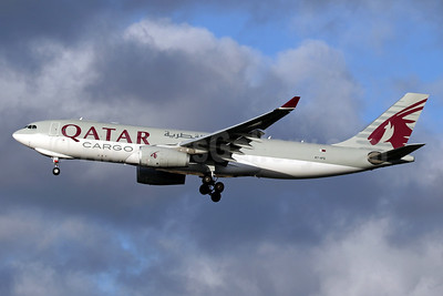 Qatar Airways Cargo Airbus A330-243F A7-AFG (msn 1584) LHR (SPA). Image: 940676.