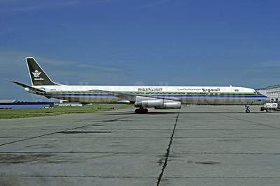 Saudia (Saudi Arabian Airlines) (Seaboard World Airlines) McDonnell Douglas DC-8-63CF N8639 (msn 46049) LBG (Christian Volpati). Image: 950826.
