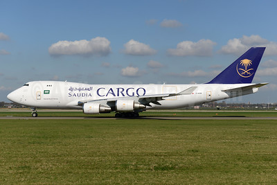 Saudia Cargo (Saudi Arabian Airlines)-ACT Airlines Boeing 747-428F ER TC-ACM (msn 32867) AMS (Ton Jochems). Image: 937451.