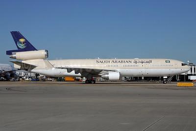 Saudi Arabian Airlines (Royal Flight) McDonnell Douglas MD-11 HZ-HM7 (msn 48532) LHR. Image: 932584.