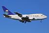 Saudi Arabian Airlines Boeing 747SP-68 HZ-HM1B (msn 21652) STN (Keith Burton). Image: 939200.