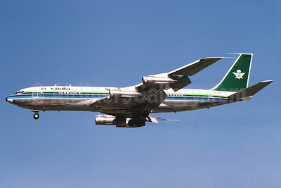 Saudia (Saudi Arabian Airlines) Boeing 707-368C HZ-HM3 (msn 21368) LHR (Richard Vandervord). Image: 901700.