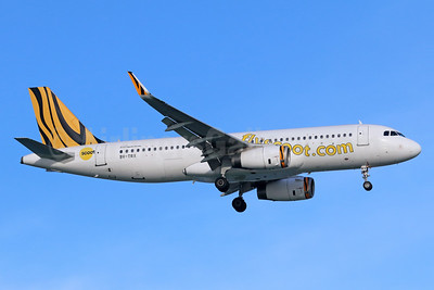 Scoot A320 in Tigerair colors