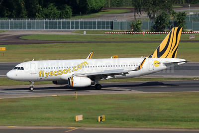 Scoot-flyscoot.com (Singapore Airlines) Airbus A320-232 WL 9V-TRX (msn 5662) (Tigerair colors) SIN (Michael B. Ing). Image: 942489.