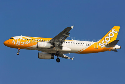 First Tigerair A320 painted in Scoot colors
