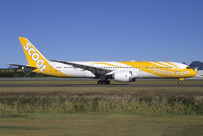 Scoot-flyscoot.com (Singapore Airlines) Boeing 787-9 Dreamliner 9V-OJG (msn 37128) OOL (Pepscl). Image: 947233.