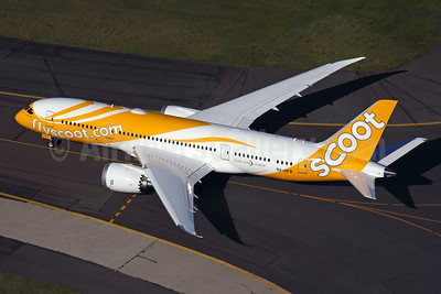 Scoot-flyscoot.com (Singapore Airlines) Boeing 787-8 Dreamliner 9V-OFB (msn 37118) SYD (Rob Finlayson). Image: 930013.