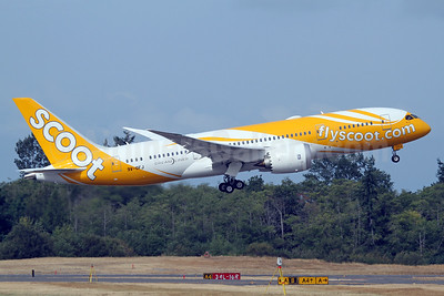 Scoot-flyscoot.com (Singapore Airlines) Boeing 787-8 Dreamliner 9V-OFJ (msn 37126) PAE (Nick Dean). Image: 938983.