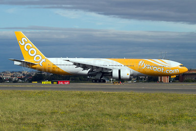 Scoot-flyscoot.com (Singapore Airlines) Boeing 777-212 ER 9V-OTC (msn 28509) SYD (Micheil Keegan). Image: 908529.