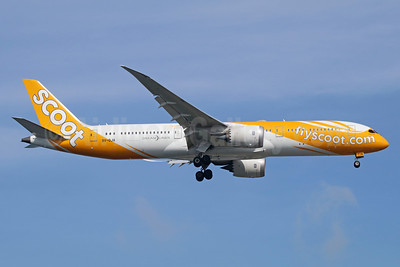 Scoot-flyscoot.com (Singapore Airlines) Boeing 787-9 Dreamliner 9V-OJA (msn 37112) SIN (Michael B. Ing). Image: 934893.