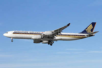 Singapore Airlines Airbus A340-541 9V-SGE (msn 563) LAX (Michael B. Ing). Image: 910607.