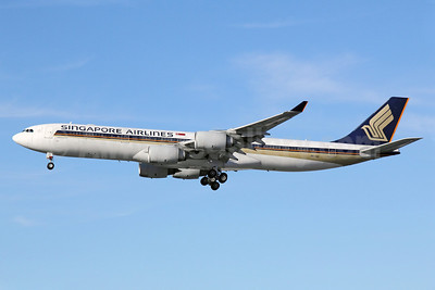 Singapore Airlines Airbus A340-541 9V-SGC (msn 478) LAX (Michael B. Ing). Image: 912977.