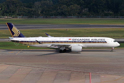 Singapore Airlines Airbus A350-941 9V-SMS (msn 158) SIN (Michael B. Ing). Image: 944221.