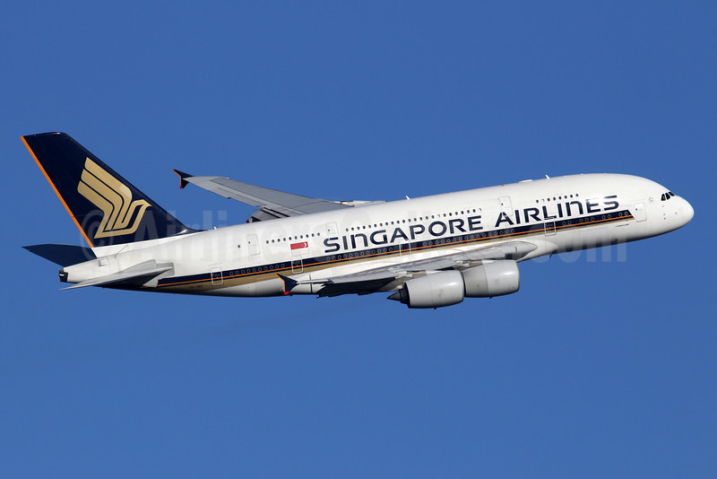 Singapore Airlines Airbus A380-841 9V-SKC (msn 006) LHR (SPA). Image:
