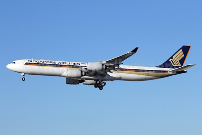 Singapore Airlines Airbus A340-541 9V-SGD (msn 560) LAX (Michael B. Ing). Image: 910606.