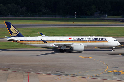 Singapore Airlines Airbus A350-941 9V-SMJ (msn 081) SIN (Michael B. Ing). Image: 939714.