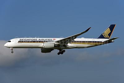 Singapore Airlines Airbus A350-941 9V-SMU (msn 186) ZRH (Rolf Wallner). Image: 954459.