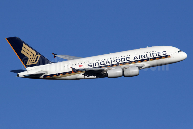 Singapore Airlines Airbus A380-841 9V-SKB (msn 005) LHR (SPA). Image: 935861.