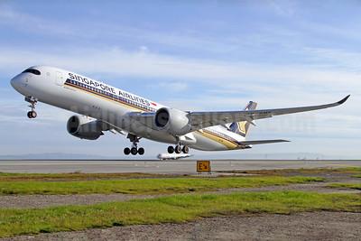 Singapore Airlines Airbus A350-941 9V-SME (msn 041) SFO (Mark Durbin). Image: 937310.