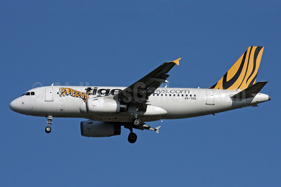 Tiger Airways (Tigerairways.com) (Singapore) Airbus A319-132 9V-TRB (msn 3801) BKK (Jens Polster). Image: 905275.