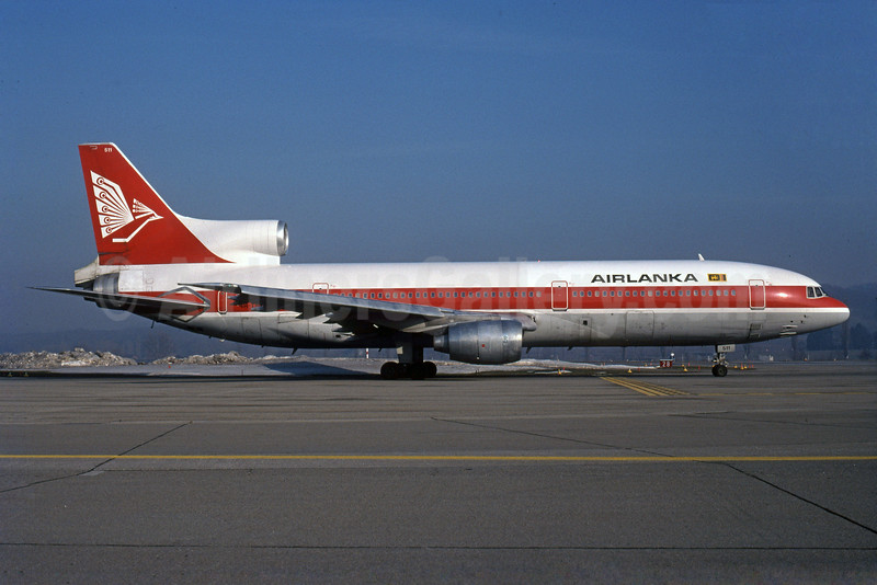 AirLanka Lockheed L-1011-385-1-15 TriStar 100 4R-TNK (msn 1069) (Air Canada colors) ZRH (Rob Rindt Collection). Image: 925502.