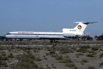 Tajikistan Airlines Tupolev Tu-154B-2 EY-85487 (msn 81A487) (Aeroflot colors) SHJ (Christian Volpati Collection). Image: 955545.