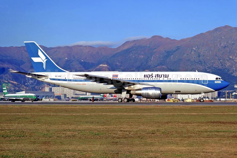 Air Siam Airbus A300B2-1C HS-VGD (msn 008) HKG (Christian Volpati). Image: 901310.