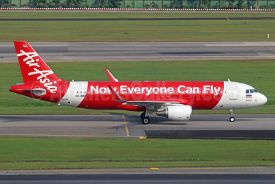 AirAsia (Thai AirAsia) Airbus A320-216 WL HS-BBC (msn 5468) (Now Everyone Can Fly) (Sharklets) SIN (Michael B. Ing). Image: 913779.