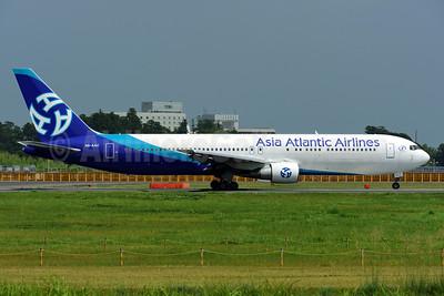 Asia Atlantic Airlines Boeing 767-322 ER HS-AAC (msn 25287) NRT (Akira Uekawa). Image: 920921.