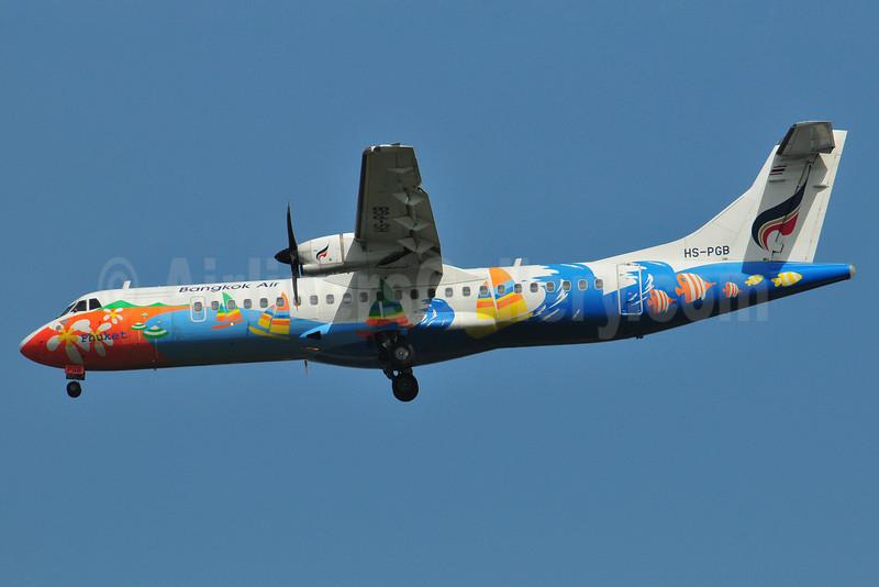 Bangkok Air (Bangkok Airways) ATR 72-212A (ATR 72-500) HS-PGB (msn 708) (Phuket) BKK (Ken Petersen). Image: 910439.