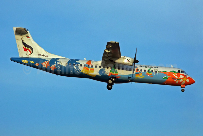 Bangkok Air (Bangkok Airways) ATR 72-212A (ATR 72-500) HS-PGB (msn 708) (Phuket) BKK (Jay Selman). Image: 402228.