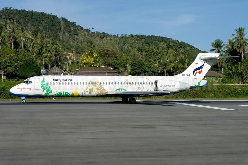 Bangkok Air (Bangkok Airways) Boeing 717-231 HS-PGR (msn 55074) (Luang Prabang) USM (Gunter Mayer). Image: 910851.