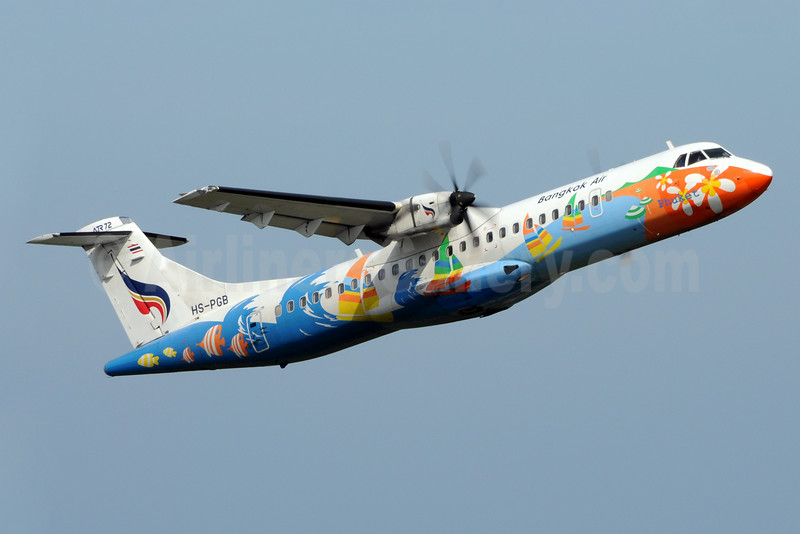 Bangkok Air (Bangkok Airways) ATR 72-212A (ATR 72-500) HS-PGB (msn 708) BKK (Richard Vandervord). Image: 923348.
