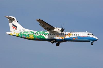 Bangkok Air (Bangkok Airways) ATR 72-212A (ATR 72-500) HS-PGC (msn 715) (Nangyuan) BKK (Jay Selman). Image: 402229.