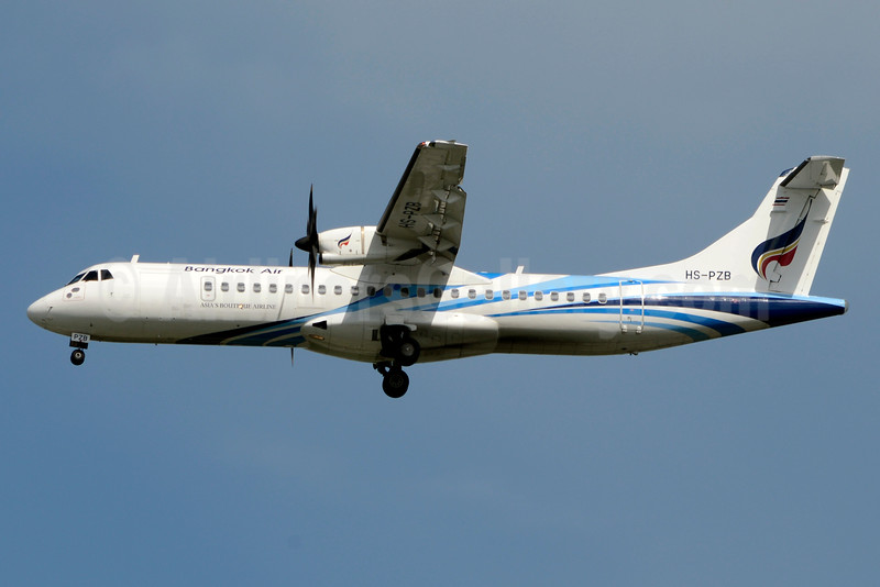 Bangkok Air (Bangkok Airways) ATR 72-212A (ATR 72-600) HS-PZB (msn 1230) BKK (Jay Selman). Image: 403110.