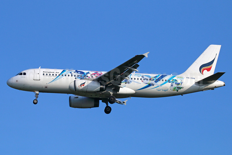Bangkok Air (Bangkok Airways) A320-232 HS-PPE (msn 2417) (Mascots - Sky, Sunshine, Rocky, Daisy and Willy) BKK (Michael B. Ing). Image: 921757.