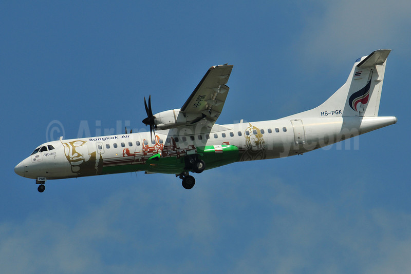 Bangkok Air (Bangkok Airways) ATR 72-212A (ATR 72-500) HS-PGK (msn 680) (Tao) BKK (Ken Petersen). Image: 910441.
