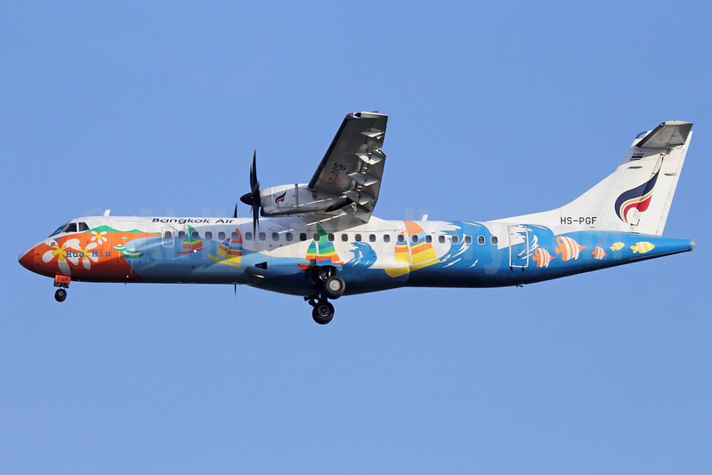 Bangkok Air (Bangkok Airways) ATR 72-212A (ATR 72-500) HS-PGF (msn 700) (Hua Hin) BKK (Michael B. Ing). Image: 910857.